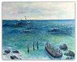 Havet med båd privat