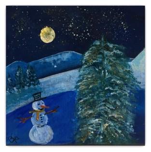 snemanden 15 - 15 akryl julekort