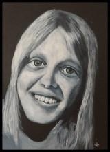 ungdomsbillede selvportræt,akrylmaling
