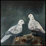 Duerne lille akrylmaleri