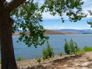 Topaz Lakefront Get-Away property has a cottage/home approximately 1,200 sq. ft. with 3 bedrooms and 3 baths.