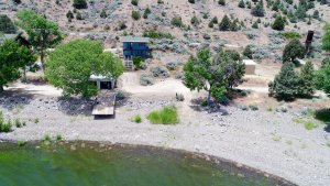 Topaz Lakefront Get-Away property is well-situated on the lake with beach frontage on a small cove.