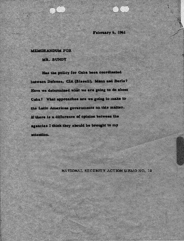 National Security Action Memorandums (NSAM) [Kennedy