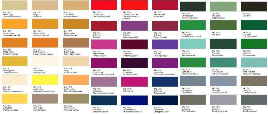 انواع پالت های رنگ سایدینگ فلزی