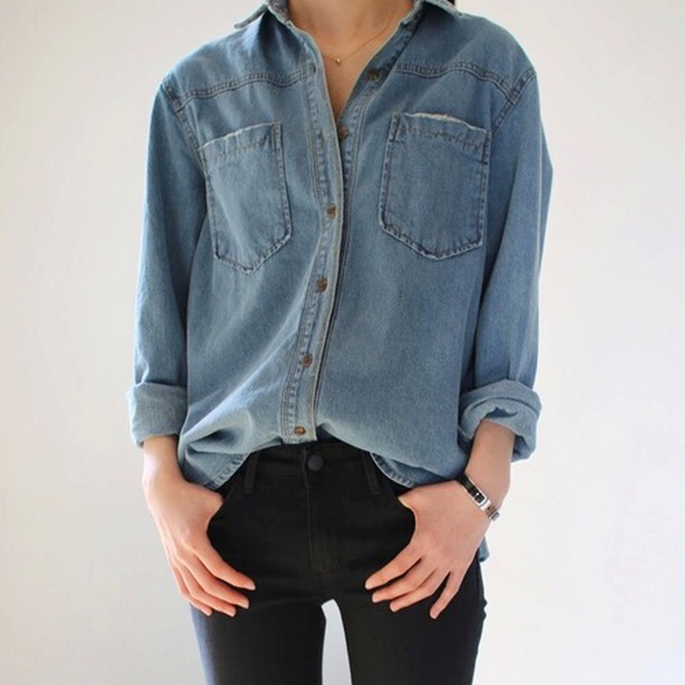 Coolest women denim trends idea (26)