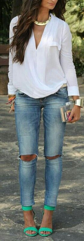 Coolest women denim trends idea (45)