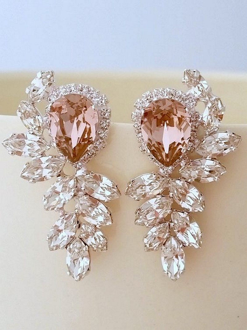 Earrings diamond wedding brides (10)