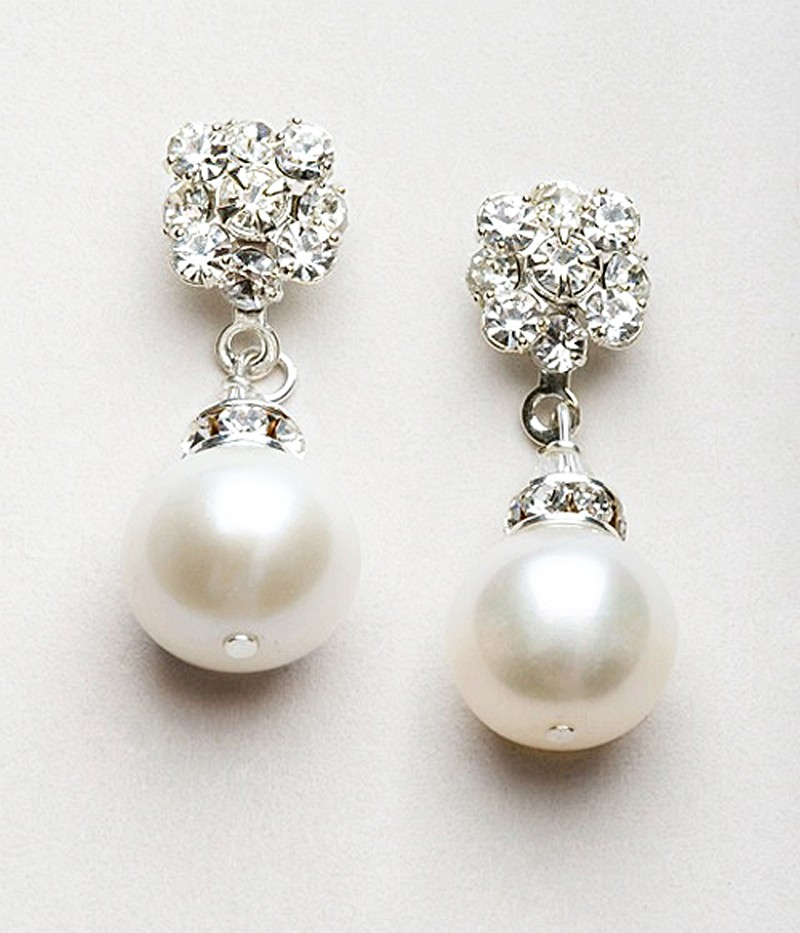 Earrings diamond wedding brides (109)