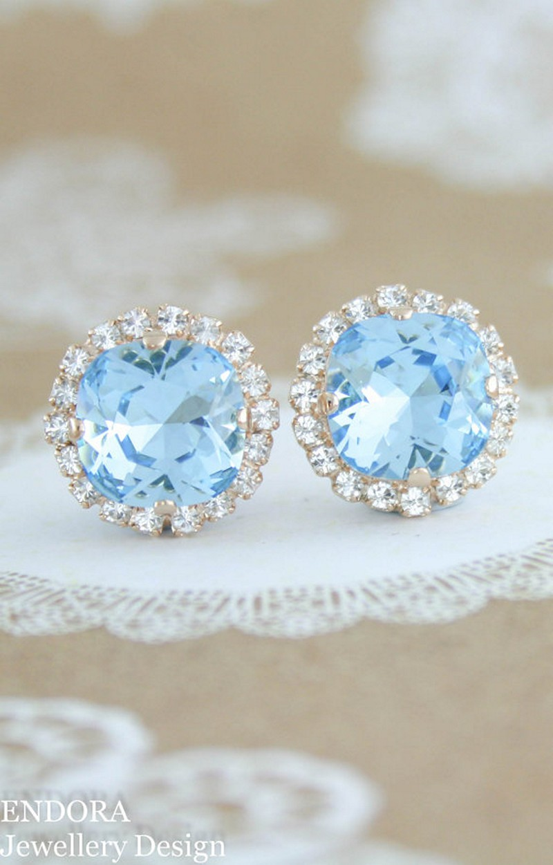Earrings diamond wedding brides (110)