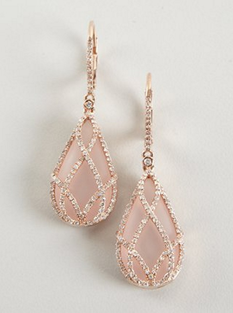 Earrings diamond wedding brides (116)