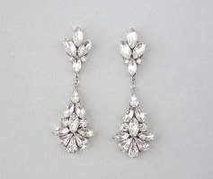 Earrings diamond wedding brides (121)