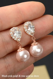 Earrings diamond wedding brides (124)