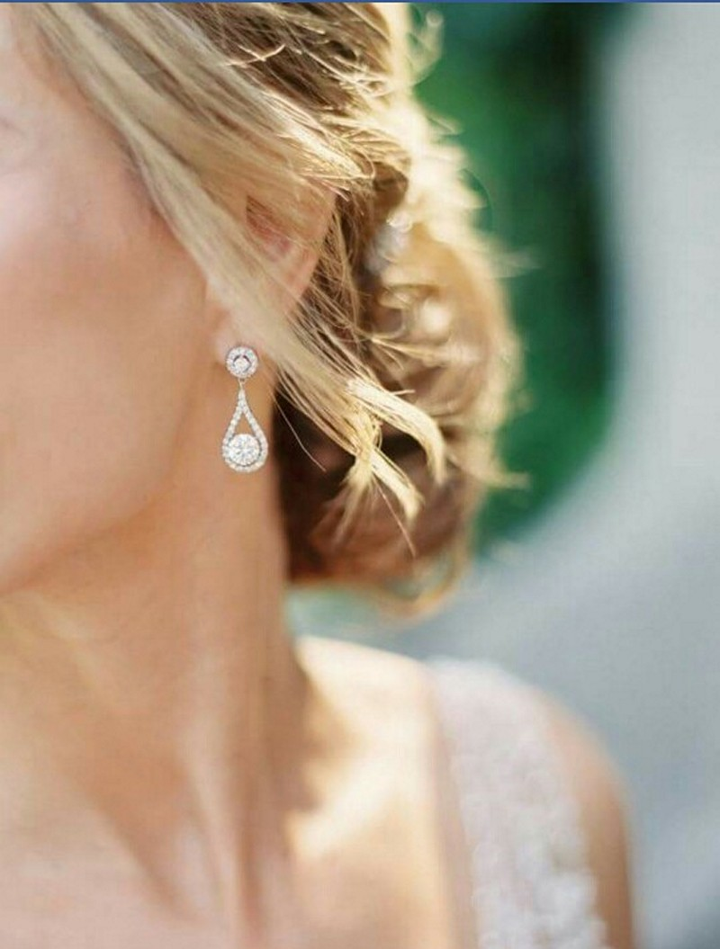 Earrings diamond wedding brides (133)