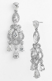 Earrings diamond wedding brides (134)