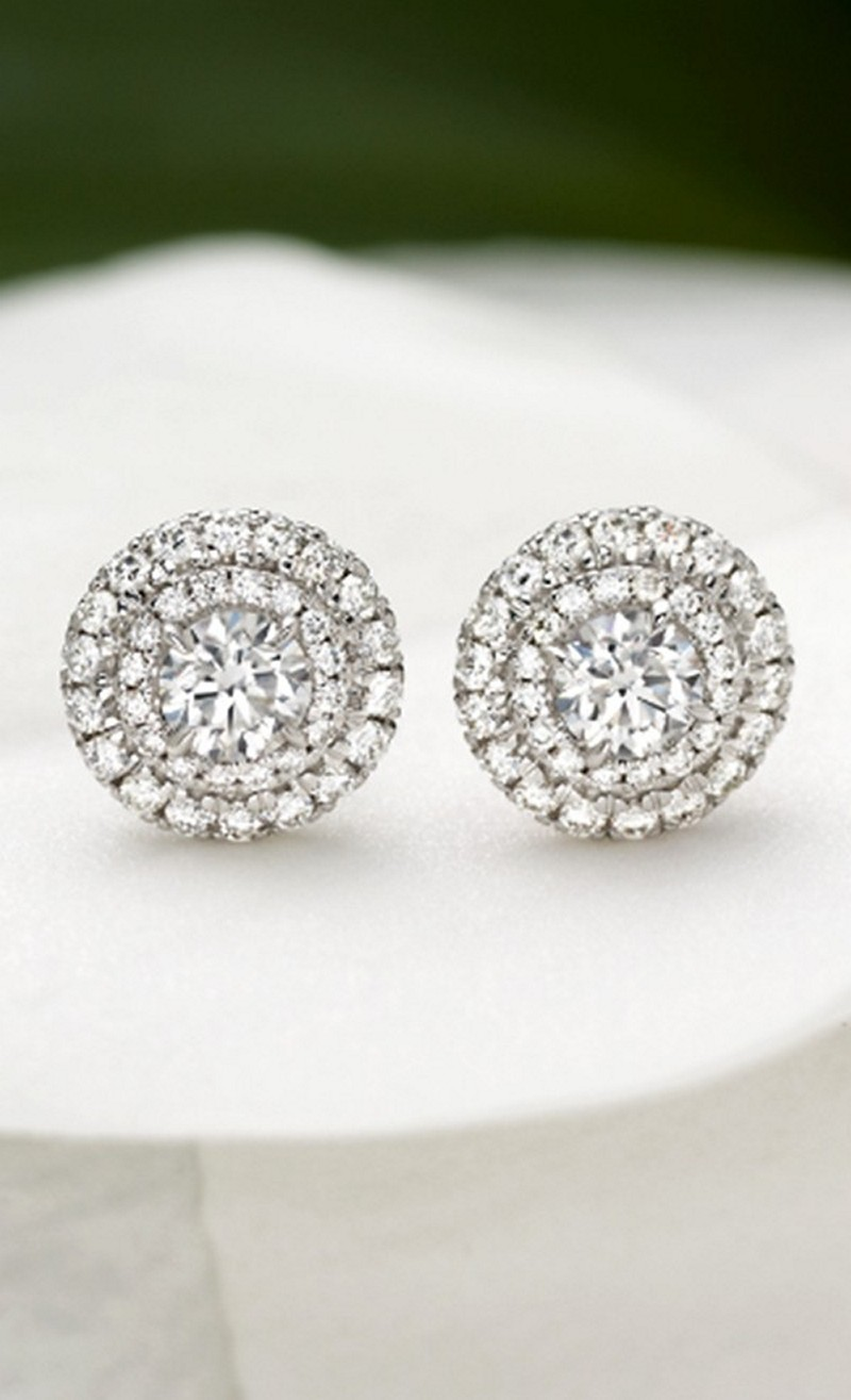 Earrings diamond wedding brides (161)
