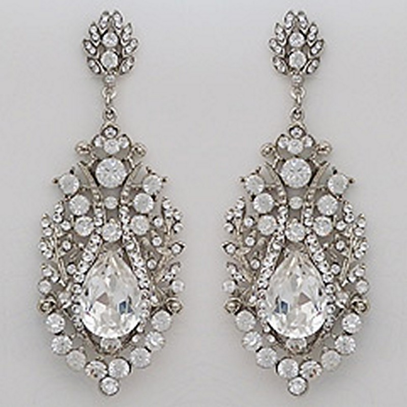 Earrings diamond wedding brides (166)