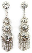 Earrings diamond wedding brides (168)