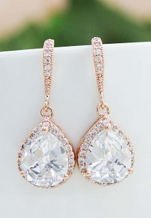 Earrings diamond wedding brides (174)