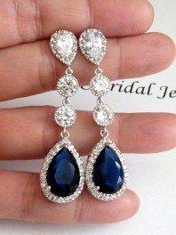 Earrings diamond wedding brides (23)