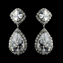 Earrings diamond wedding brides (34)