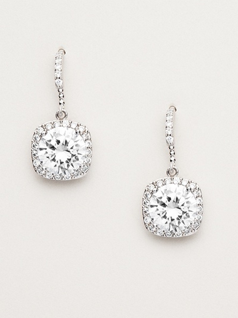 Earrings diamond wedding brides (43)