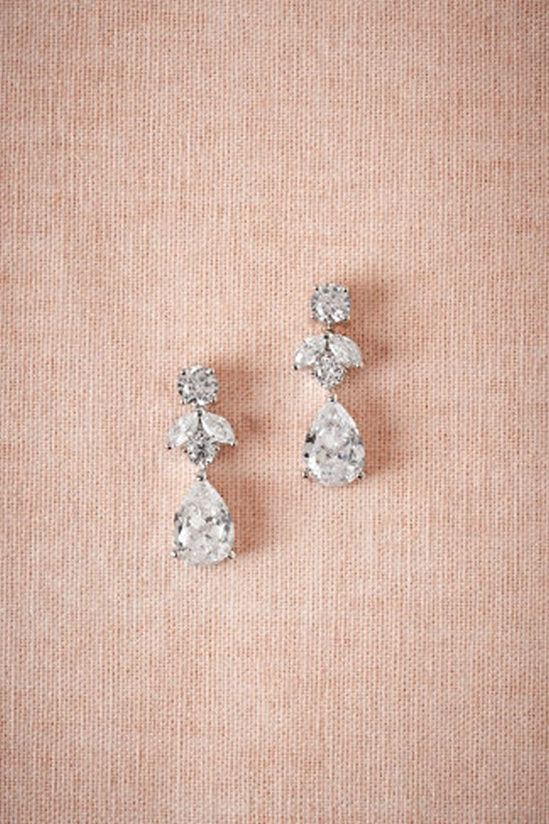 Earrings diamond wedding brides (81)