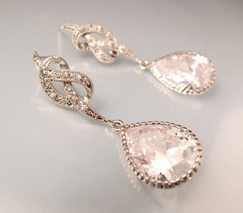Earrings diamond wedding brides (86)