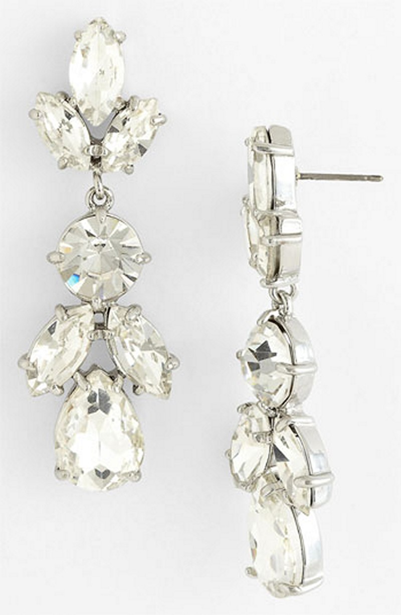 Earrings diamond wedding brides (87)