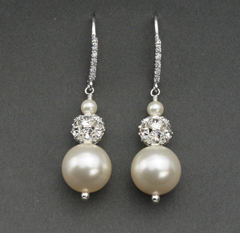 Earrings diamond wedding brides (93)