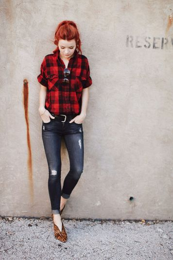 Ways to wear flanel for women (26)