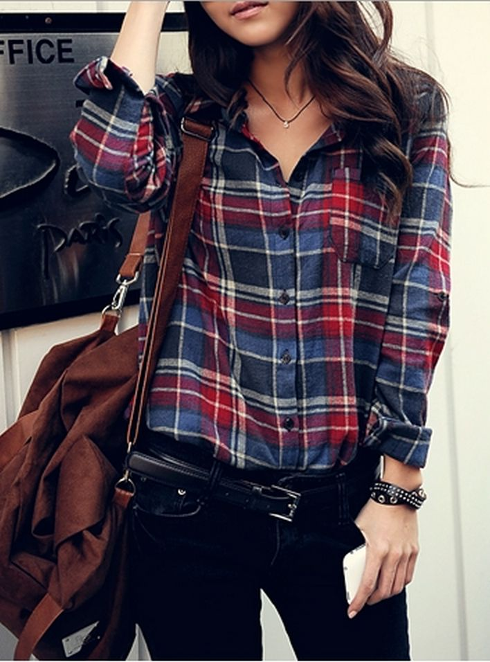 Ways to wear flanel for women (5)