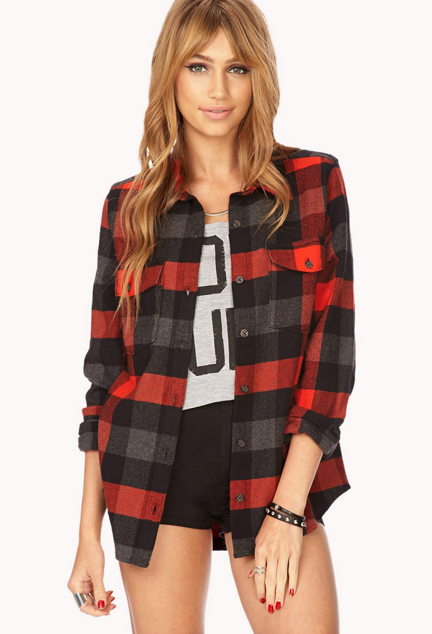 Ways to wear flanel for women (51)