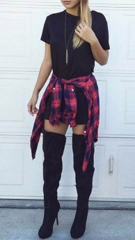 Ways to wear flanel for women (55)