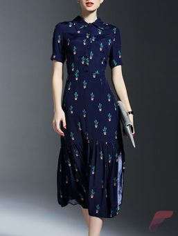 Awsome casual midi dress137