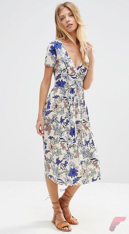 Awsome casual midi dress146