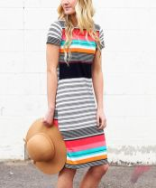 Awsome casual midi dress158