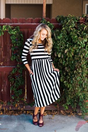 Awsome casual midi dress215