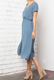 Awsome casual midi dress217