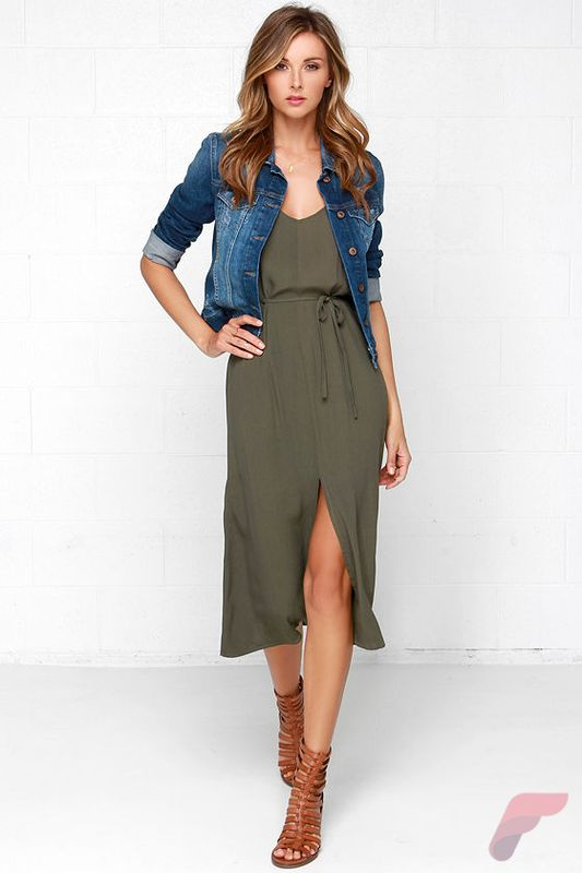 Awsome casual midi dress22
