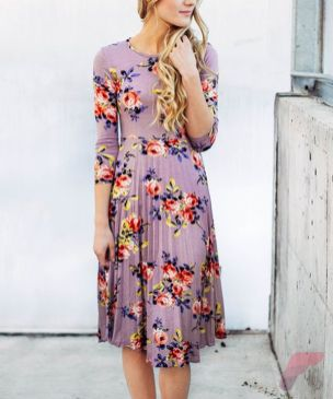 Awsome casual midi dress26