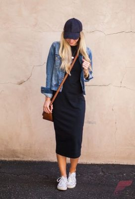 Awsome casual midi dress40