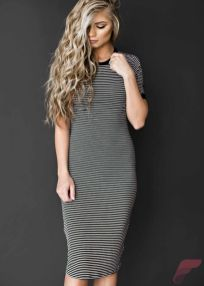 Awsome casual midi dress63