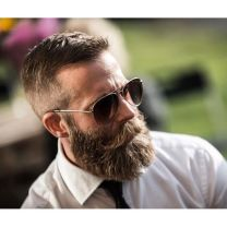 Best men short beard and mustache style 16