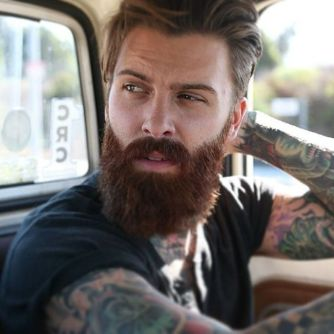 Best men short beard and mustache style 22
