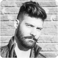 Best men short beard and mustache style 44
