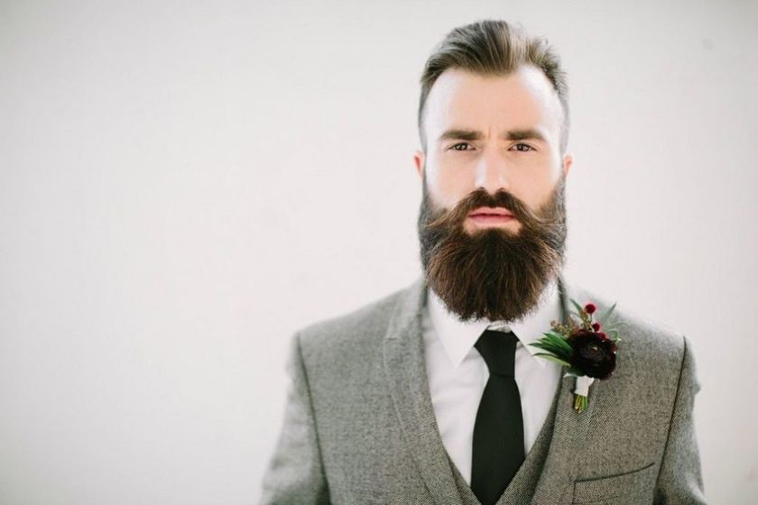 Best men short beard and mustache style 46