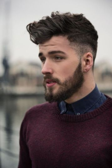Best men short beard and mustache style 69
