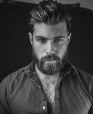 Best men short beard and mustache style 77