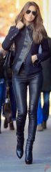 Black leather jacket outfit 26