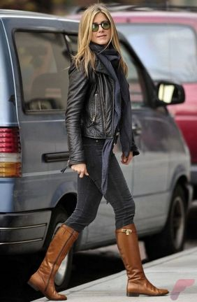 Black leather jacket outfit 30